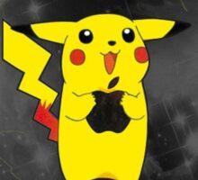 Pikachu + Apple = Friends Sticker