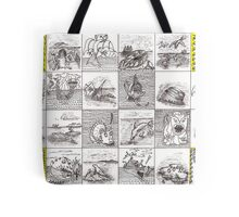 Cartouche and mythical creatures Tote Bag