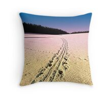 Cross country skiing | winter wonderland | landscape photography Throw Pillow