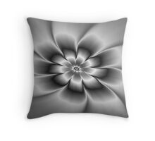Silver Daisy Throw Pillow