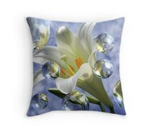 Flowers and Bubbles 1 Throw Pillow