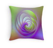 Oval Window Spiral Throw Pillow