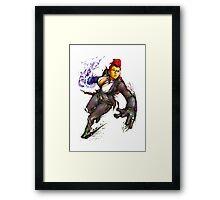 """Crimson Viper """"Street Fighter"""" Framed Print"""