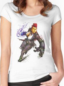 "Crimson Viper ""Street Fighter"" Women's Fitted Scoop T-Shirt"