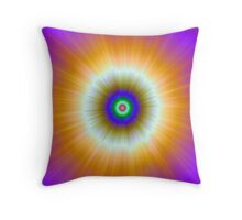 Orange Explosion of Color Throw Pillow
