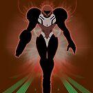 Super Smash Bros. Brown/Dark Suit Samus Silhouette by jewlecho