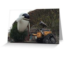 Wall E & Eve Greeting Card