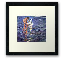Young Yachtsman  Framed Print