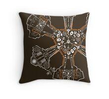 Atlantis Blueprint Throw Pillow