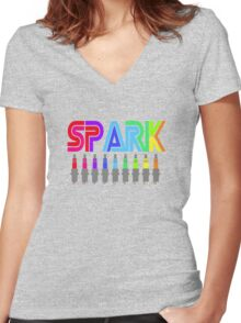 SPARK colour Women's Fitted V-Neck T-Shirt