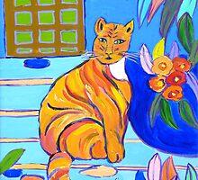 Marmalade Cat Cushion by Virginia McGowan