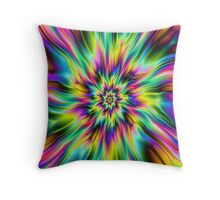 Psychedelic Supernova Throw Pillow
