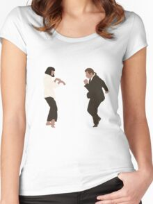 Pulp Fiction dance Women's Fitted Scoop T-Shirt