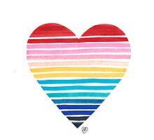Big Heart Rainbow Photographic Print