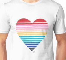 Big Heart Rainbow Unisex T-Shirt
