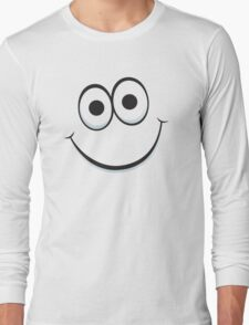 Happy cartoon face Long Sleeve T-Shirt