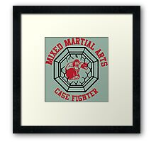 MMA Mixed Martial Arts Cage Fighter Framed Print