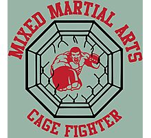 MMA Mixed Martial Arts Cage Fighter Photographic Print