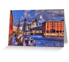 Albert Docks - Liver Building Greeting Card