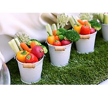 fresh Vegetable snacks Photographic Print