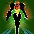 Super Smash Bros. Green Samus Silhouette by jewlecho
