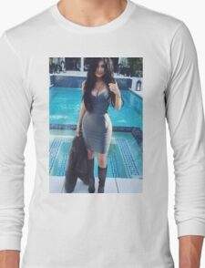 Kylie Jenner Poolside 2 Long Sleeve T-Shirt