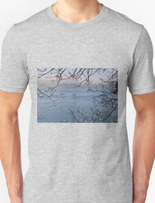 Moored Yacht in Carrick Roads Cornwall T-Shirt