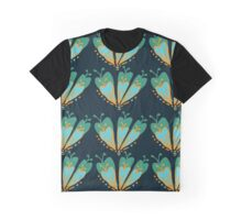 green fan flower Graphic T-Shirt
