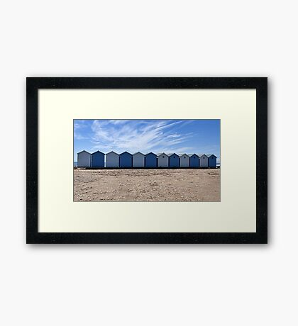 The Blues Of Charmouth, Dorset Framed Print