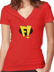Freakazoid! Women's Fitted V-Neck T-Shirt