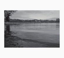 Tranquil River Fal in Black and White Baby Tee