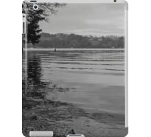 Tranquil River Fal in Black and White iPad Case/Skin