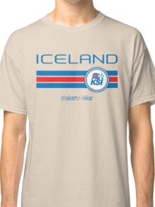 Euro 2016 Football - Iceland (Away White) Classic T-Shirt