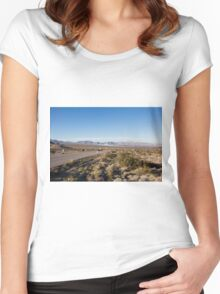 Solar Farm, Death Valley, California, USA Women's Fitted Scoop T-Shirt