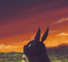 Sunset on Totoro Hill - My Neighbor Totoro Sticker