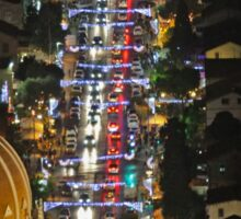 Israel, Haifa, The city is lit up with Christmas decorations Sticker
