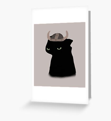 Toothless With Hiccup's Helmet Greeting Card