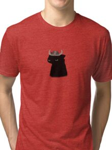 Toothless With Hiccup's Helmet Tri-blend T-Shirt