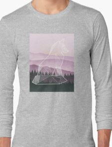 Geometric Nature - Fox (Full) Long Sleeve T-Shirt