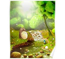 Totoro Fishing Poster