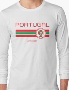 Euro 2016 Football - Portugal (Away White) Long Sleeve T-Shirt