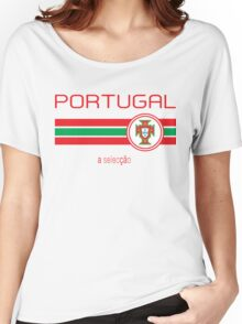Euro 2016 Football - Portugal (Away White) Women's Relaxed Fit T-Shirt