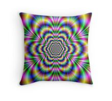 Psychedelic Hexagon Throw Pillow