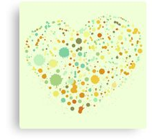 Green Valentine's Hearts Canvas Print