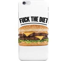 FUCK THE DIET-BLACK iPhone Case/Skin