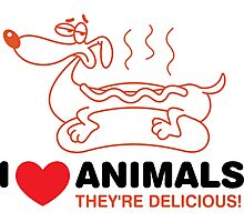 I love animals. They are absolutely delicious! Photographic Print