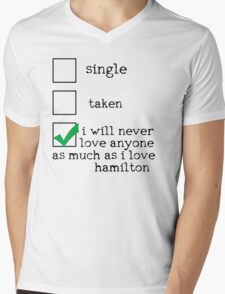 I'm In A Dedicated Relationship With Alexander Hamilton Mens V-Neck T-Shirt