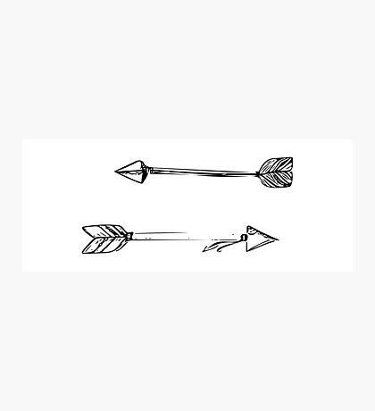 Arrows Doodle Photographic Print