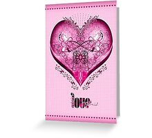LOVE HEART - Pink (Card + Stickers) Greeting Card