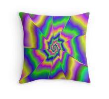 Fractured Spiral Throw Pillow